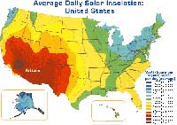 Solar Insolation map of United States